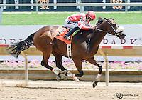 Yano winning at Delaware Park on 6/22/13