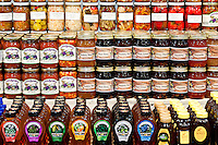 Preserved Pennsylvania Dutch foods in Reding Terminal Market, Philadelphia, PA, Pennsylvania