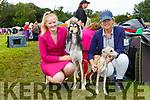 Sarah Cushley and Jane O'Mahony with Omar and Jaime at the Killarney Dog show on Tuesday