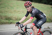After crashing out of stage 17 of the 2016 Tour de France (where he broke his pelvis, but finished that day!!), Shane 'The Mullet' Archbold (NZL/Bora-Argon 18) is back at the start of a race for the first time since less then 7 weeks later. <br /> He said he would be happy to make it to the feedzone, but even managed to hang on for a long time after that... it wasn't easy-peasy though.<br /> <br /> Brussels Cycling Classic 2016