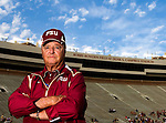 Florida State head coach Bobby Bowden at home prior to their Garnet and Gold game on Bobby Bowden Field on the Florida State University campus in Tallahassee, Florida April 4, 2009..(Mark Wallheiser/TallahasseeStock.com)