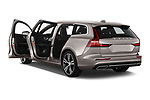 Car images close up view of a 2020 Volvo V60 Inscription 5 Door Wagon doors