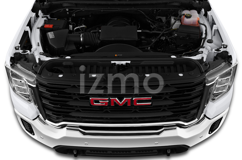 Car Stock 2020 GMC Sierra-2500HD - 4 Door Pick-up Engine  high angle detail view