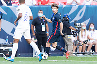 DENVER, CO - JUNE 3: Brenden Aaronson #11 of the United States during a game between Honduras and USMNT at EMPOWER FIELD AT MILE HIGH on June 3, 2021 in Denver, Colorado.