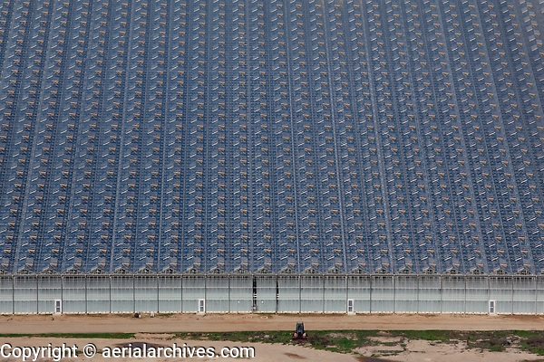 aerial photograph of greenhouse farming, Santa Maria, San Luis Obispo County, California