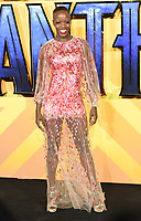 """Florence Kasumba<br /> arriving for the """"Black Panther"""" premiere at the Hammersmith Apollo, London<br /> <br /> <br /> ©Ash Knotek  D3376  08/02/2018"""