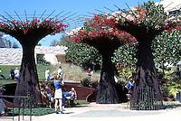 Richard Meier: Getty Center. The Garden. Robert Irwin used rebar for flower trellises.  Photo '99.