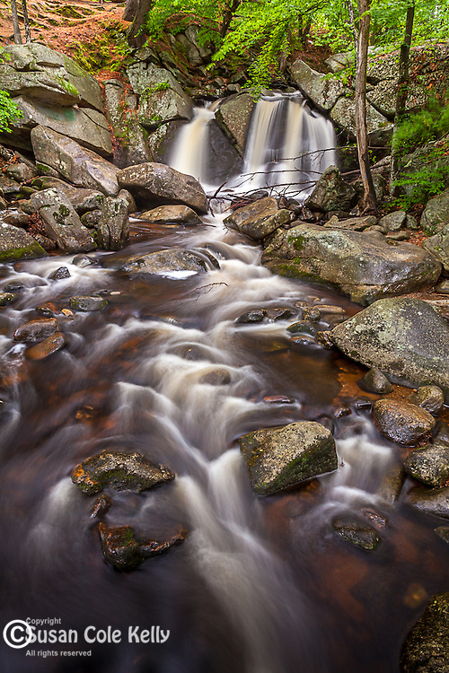 Trapp Falls in Willard Brook State Forest, Townsend, Massachusetts, USA