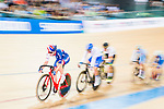 Elinor Barker of Great Britain competes on the Women's Madison 30km Final during the 2017 UCI Track Cycling World Championships on 15 April 2017, in Hong Kong Velodrome, Hong Kong, China. Photo by Marcio Rodrigo Machado / Power Sport Images