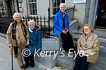 The McCarthy sisters standing outside their former residence at 3 Day Place on Tuesday. L to r: Tina Wall, Kitty Enright, Peggy Hegarty and Breda Edwards Murphy