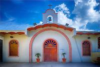 Church in Sayulita, Mexico. Cuasiparroquia de Nuestra Senora de Guadalupe