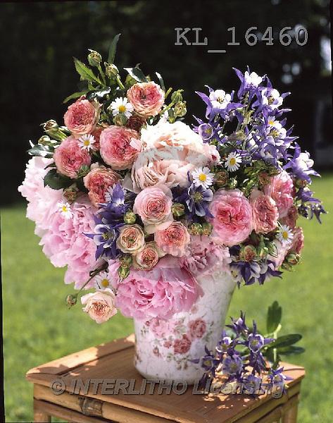 Interlitho, FLOWERS, BLUMEN, FLORES, photos+++++,flowers,pot, rosa,KL16460,#F#