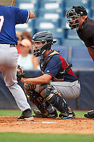 Zack Smith (4) of Eastern Wayne High School in Goldsboro, North Carolina playing for the Cleveland Indians scout team during the East Coast Pro Showcase on July 28, 2015 at George M. Steinbrenner Field in Tampa, Florida.  (Mike Janes/Four Seam Images)