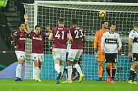 Javier Hernandez of West Ham United scores the equaliser and celebrates  during West Ham United vs Fulham, Premier League Football at The London Stadium on 22nd February 2019