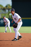Detroit Tigers Nick Ames (53) during a Florida Instructional League game against the Pittsburgh Pirates on October 6, 2018 at Joker Marchant Stadium in Lakeland, Florida.  (Mike Janes/Four Seam Images)