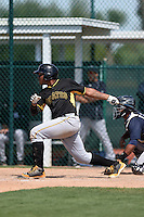 Pittsburgh Pirates Edwin Espinal (76) during a minor league spring training game against the New York Yankees on March 28, 2015 at Pirate City in Bradenton, Florida.  (Mike Janes/Four Seam Images)