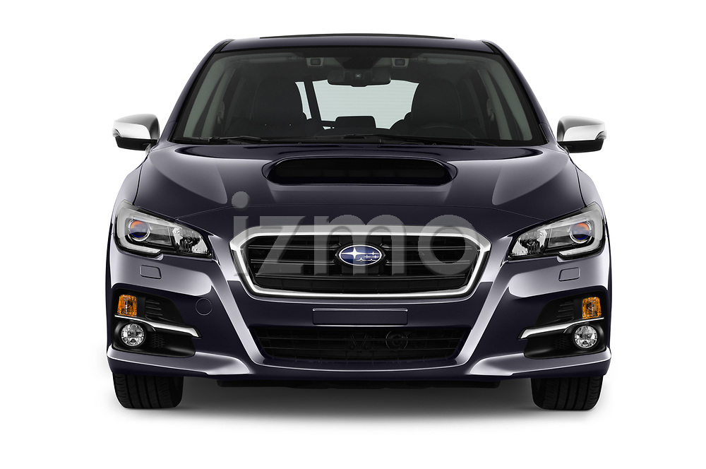 Car photography straight front view of a 2017 Subaru Levorg GT-S Premium 5 Door Wagon