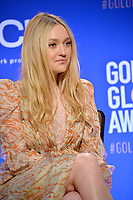 LOS ANGELES, USA. December 09, 2019: Dakota Fanning at the nominations announcement for the 77th Golden Globe Awards at the Beverly Hilton Hotel.<br /> Picture: Paul Smith/Featureflash