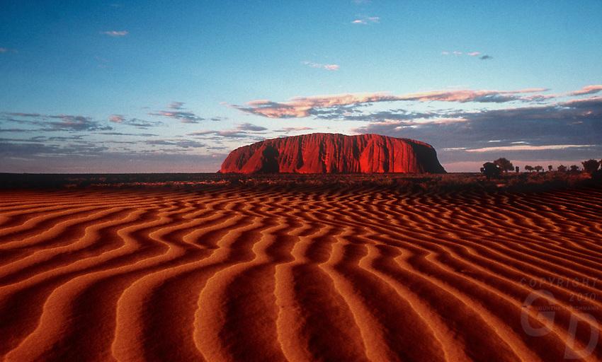 Ayers Rock Uluru National Park (composite Image created on film)