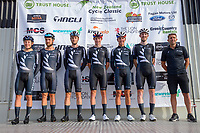 The NZ national team. The opening ceremony of the 2021 NZ Cycle Classic UCI Oceania Tour at Mitre 10 Mega in Masterton, New Zealand on Wednesday, 13 January 2021. Photo: Dave Lintott / lintottphoto.co.nz