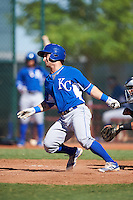 Kansas City Royals Nick Dini (7) during an Instructional League game against the Cleveland Indians on October 11, 2016 at the Cleveland Indians Player Development Complex in Goodyear, Arizona.  (Mike Janes/Four Seam Images)