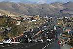 Northern Nevada is drying out this morning after another wet storm moved through the region over the weekend adding to rain totals for the wettest October on record. Traffic moves along Highway 395 in South Carson City, Nev., on Monday morning, Oct. 25, 2010.  .Photo by Cathleen Allison
