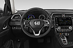 Car pictures of steering wheel view of a 2020 Honda Insight Touring 5 Door Hatchback