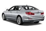 Car pictures of rear three quarter view of a 2018 BMW 5 Series 540i Sport Line 4 Door Sedan angular rear
