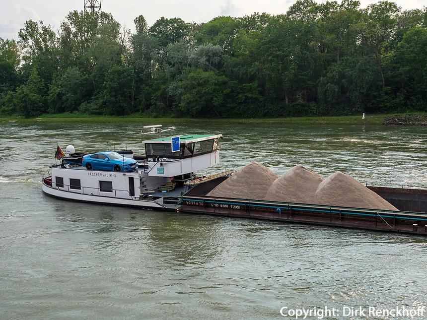 Frachter am Oberrhein, Rheinland-Pfalz, Deutschland, Europa<br /> freighter at Upper Rhine, Rhineland-Palatinate, Germany, Europe