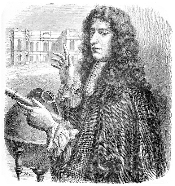 Giovanni Domenico Cassini, an Italian-French mathematician, astronomer, engineer, and astrologer, vintage engraved illustration. Le Magasin Pittoresque - 1874