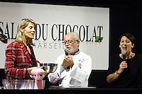 02.02.2017 - Marseille, France - Salon du chocolat avec Nathalie Simon et le chef patissier Sege Billet