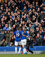 Gylfi Sigurdsson of Everton celebrates after scoring his side's second goal to make the score 2-0 during the Premier League match between Everton and West Ham United at Goodison Park on October 19th 2019 in Liverpool, England. (Photo by Daniel Chesterton/phcimages.com)<br /> Foto PHC/Insidefoto <br /> ITALY ONLY