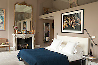 The luxurious master bedroom has been remodelled with a mezzanine