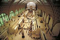 Interior of Musee d'Orsay. Paris, France. Paris, France Musee d'Orsay.