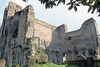 Italy: Rome--The Palatine, Foundations on Forum Side.