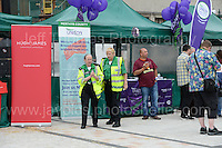 First aid workers were in attendance during the Merthyr Rising Festival 2016 in Merthyr Tydfil on Saturday June 4th and Sunday June 5th 2016. <br /> <br /> <br /> Jeff Thomas Photography -  www.jaypics.photoshelter.com - <br /> e-mail swansea1001@hotmail.co.uk -<br /> Mob: 07837 386244 -