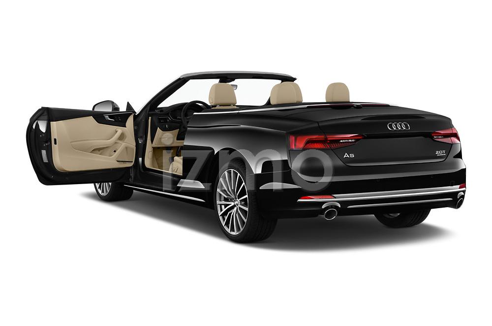 Car images close up view of a 2018 Audi A5 Cabriolet Premium Plus 2 Door Convertible doors