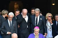 Pascal DESPREZ - Anthony DELON - Alain DELON - VÈronique DE VILLELE - ObsËques de MIREILLE DARC en l'Èglise Saint-Sulpice - 01/09/2017 - Paris, France