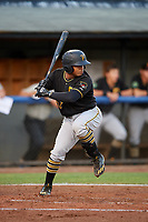 Bristol Pirates catcher Gabriel Brito (52) at bat during the second game of a doubleheader against the Bluefield Blue Jays on July 25, 2018 at Bowen Field in Bluefield, Virginia.  Bristol defeated Bluefield 5-2.  (Mike Janes/Four Seam Images)