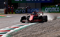 4th September 2020; Autodromo Nazionale Monza, Monza, Italy ; Formula 1 Grand Prix of Italy, free practise sessions;  5 Sebastian Vettel GER, Scuderia Ferrari Mission Winnow goes wide into the gravel