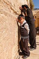 Israel,Jerusalem, orhodox judes pray at the Western Wall