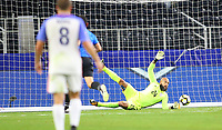 ARLINGTON, TEXAS - Saturday July 22, 2017: Tim Howard #24 of the USMNT blocked a shot on goal in the second half of the match at AT&T Stadium.