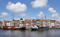 Nederland Leiden - 2021.  Historische panden aan het Galgewater. Foto ANP / Hollandse Hoogte / Berlinda van Dam