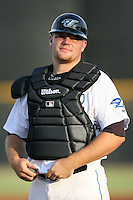 April 10th 2009:  Catcher Matt Liuzza of the Dunedin Blue Jays, Florida State League Class-A affiliate of the Toronto Blue Jays, during a game at Dunedin Stadium in Dunedin, FL.  Photo by:  Mike Janes/Four Seam Images