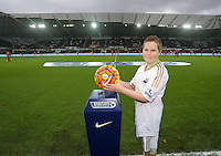 Child mascot Callum Williams  during the Barclays Premier League match between Swansea City and West Bromwich Albion played at the Liberty Stadium, Swansea on December 26 2015