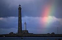 Europe/France/Bretagne/29/Finistère/Ile Vierge: Le phare de l'Ile Vierge