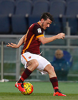 Calcio, Serie A: Roma vs Sampdoria. Roma, stadio Olimpico, 7 febbraio 2016.<br /> Roma's Alessandro Florenzi in action during the Italian Serie A football match between Roma and Sampdoria at Rome's Olympic stadium, 7 January 2016.<br /> UPDATE IMAGES PRESS/Riccardo De Luca