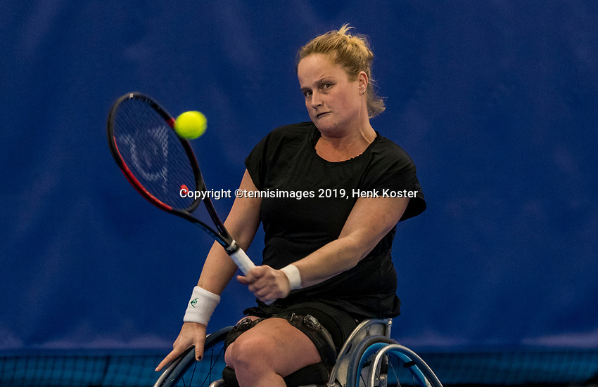 Amstelveen, Netherlands, 8  December, 2020, National Tennis Center, NTC, NKR, National  Indoor Wheelchair Tennis Championships, women's  single: <br />  Aniek van Koot  (NED)<br /> Photo: Henk Koster/tennisimages.com