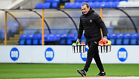 Blackpool's assistant head coach Colin Calderwood during the pre-match warm-up<br /> <br /> Photographer Chris Vaughan/CameraSport<br /> <br /> The EFL Sky Bet League One - Peterborough United v Blackpool - Saturday 21st November 2020 - London Road Stadium - Peterborough<br /> <br /> World Copyright © 2020 CameraSport. All rights reserved. 43 Linden Ave. Countesthorpe. Leicester. England. LE8 5PG - Tel: +44 (0) 116 277 4147 - admin@camerasport.com - www.camerasport.com