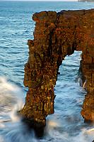 Holei Sea Arch Hawaii, USA Volcanoes National Park, Kilauea Volcano, Big Island, Hawaii, USA
